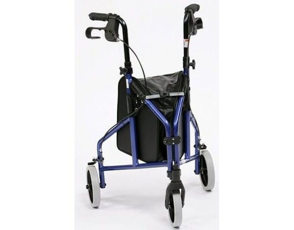 Andador Aluminio de 3 ruedas