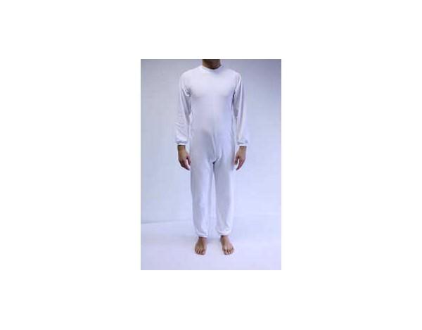 Pijama largo antipañal con cremalleras en espalda y piernas