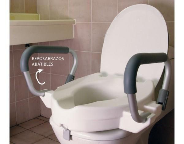 Alza WC con Reposabrazos abatibles